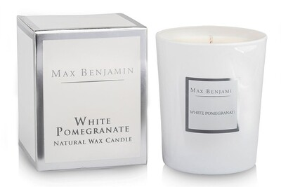 Max Benjamin White Pomegranate Luxury Scented Candle