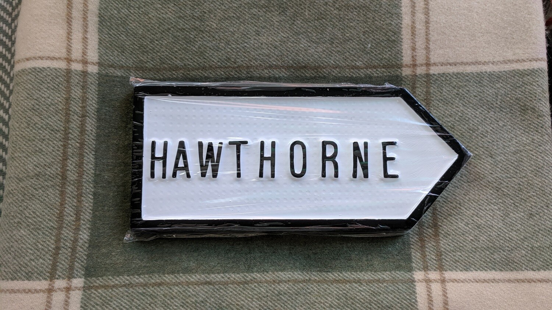 Irish Road Sign - Hawthorne