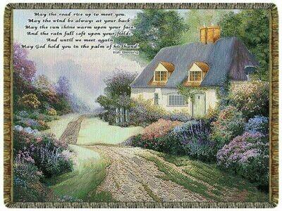 Irish Cottage Path Throw