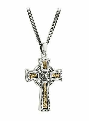 Silver & 10K Gold Celtic Cross