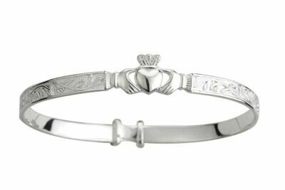 Sterling Silver Celtic Baby Bangle