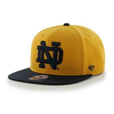 Notre Dame Gold and Navy Cap