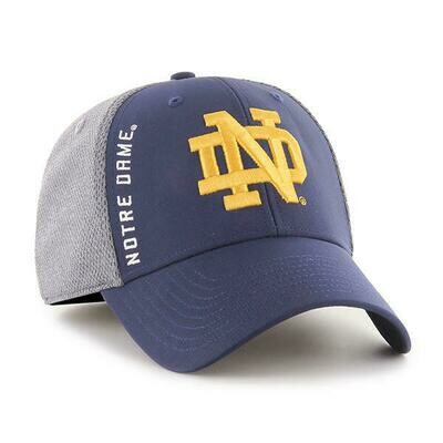 Notre Dame Navy and Grey Cap