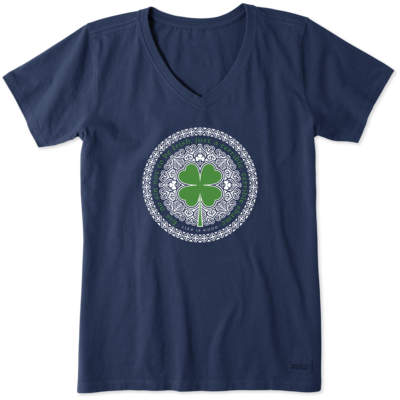 Life is Good Women's Tee Shirt - Tis No Sin Not To Be Irish - Blue