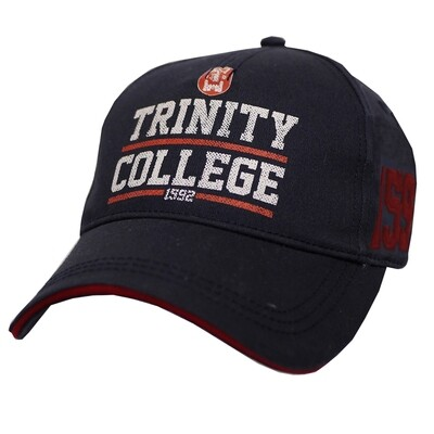 Trinity College Cap - Navy and Red