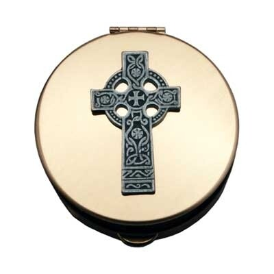 Celtic Cross Pyx - Medium