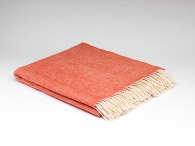 Spotted Orange Supersoft Throw