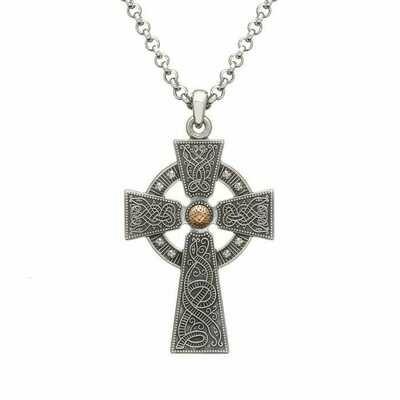 Antiqued Large Celtic Warrior Cross