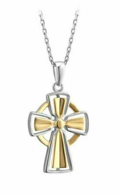 Silver & Gold Celtic Cross