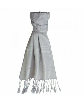 Luxury Wool Scarf - Stone/Silver