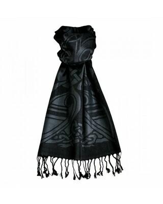 Luxury Wool Scarf - Black