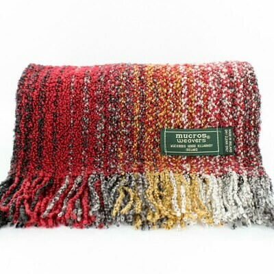 Skellig Scarf - Red, Yellow & White