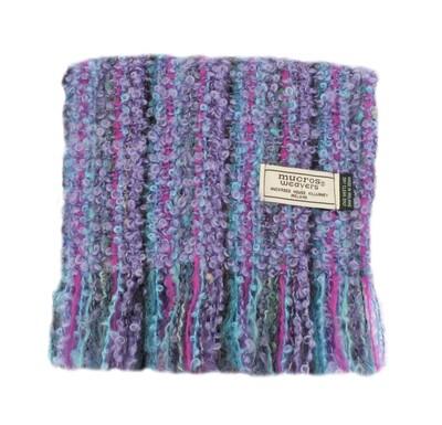 Mohair Viscose Scarf - Purple, Magenta, Teal & Green