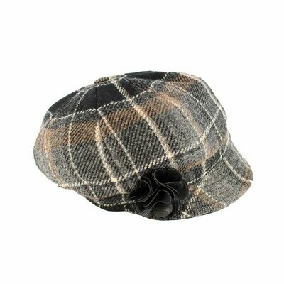 Newsboy Cap - Grey, Tan, Black & White