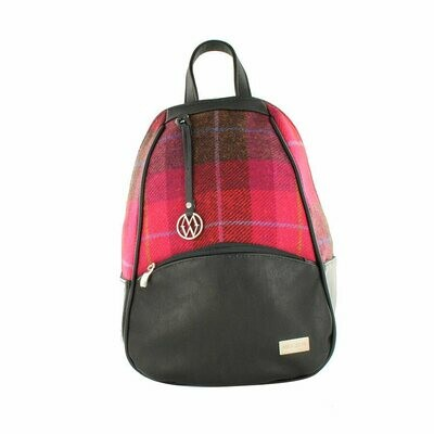 Colleen Backpack - Pink Plaid