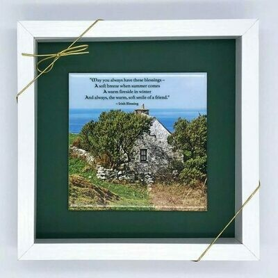 Three Blessings Irish Cottage Tile Art