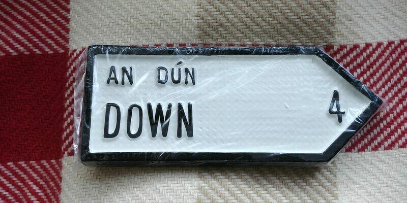 Irish Road Sign - Down