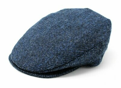 Vintage Cap - Blue and Black Herringbone
