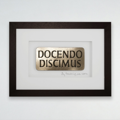DOCENDO DISCIMUS – BY TEACHING WE LEARN