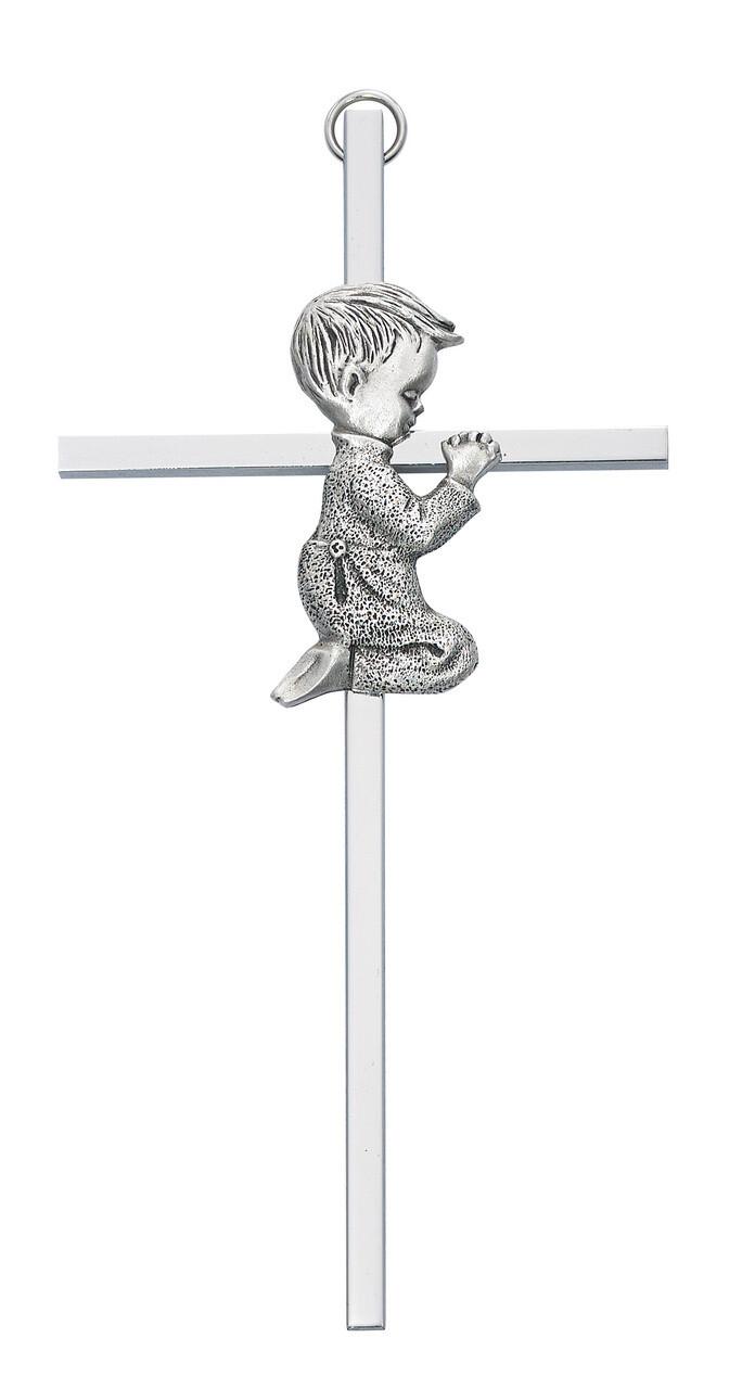 Silver Boy Cross
