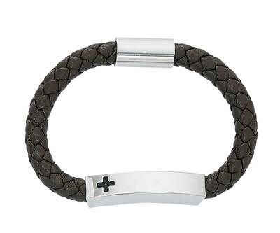 Cross ID Magnetic Leather Bracelet