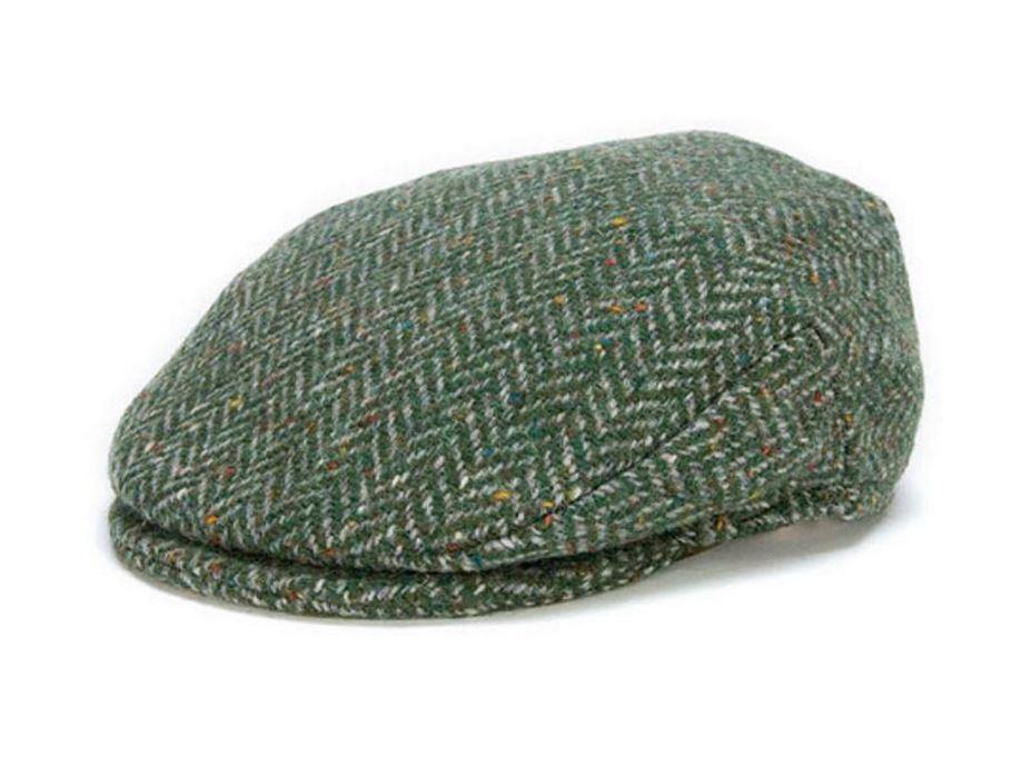 Hanna Hats - Vintage Cap - Green Herringbone