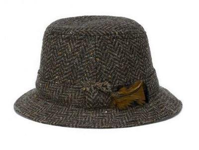 Hanna Hats Walking Hat - Brown Herringbone