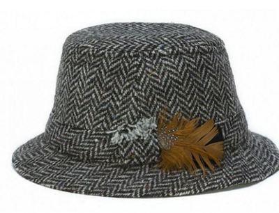 Hanna Hats Walking Hat - Black Herringbone