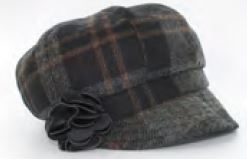 Mucros Weavers Newsboy Ladies Hat - Plaid