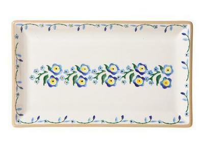 Medium Rectangle Plate - Forget Me Not