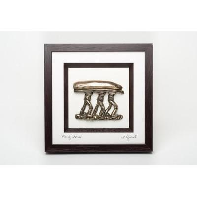 FRAMED BRONZE- MEN OF ARAN