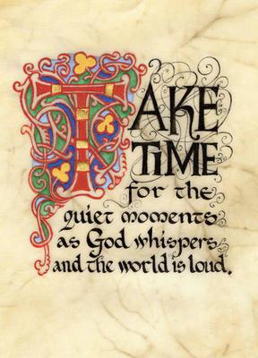 God Whispers Framed Print