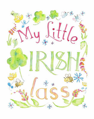 My Little Irish Lass Framed Print
