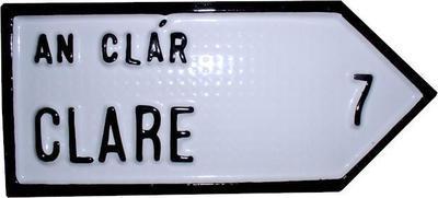 Irish Road Sign - Clare