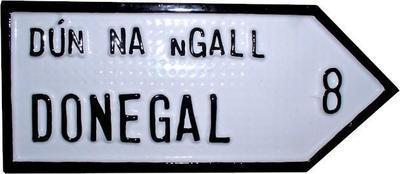 Irish Road Sign - Donegal