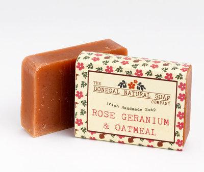 Donegal Soap Bar - Rose Geranium & Oatmeal