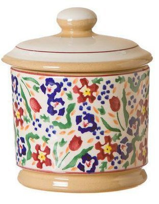 Lidded Sugar Bowl Wildflower Meadow