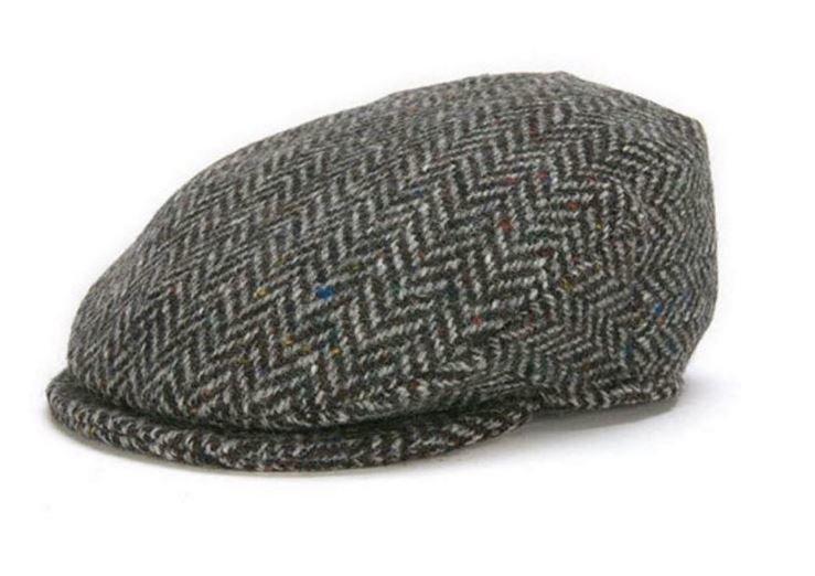 Hanna Hats - Vintage Cap - Black Herringbone