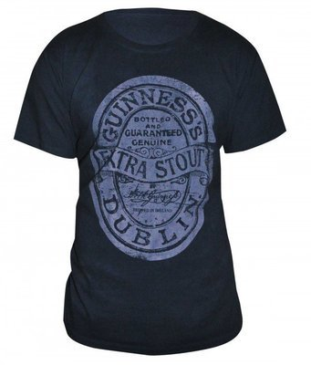 Guinness Distressed Label Tee