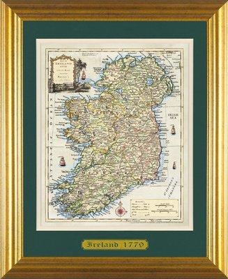 Ancient Map of Ireland - Standard