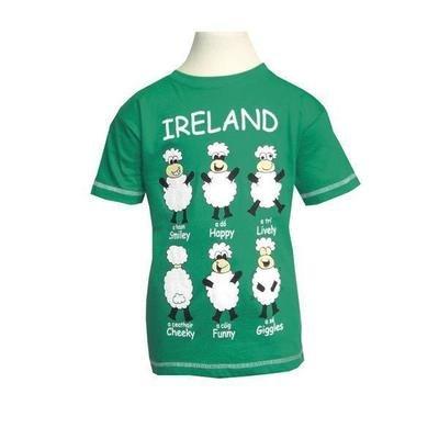 Green Happy Kid T Shirt