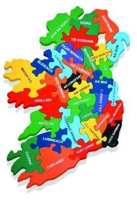Map of Ireland Jigsaw Puzzle (As Gaeilge)