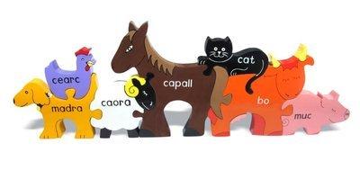 Farm Animals Jigsaw (As Gaeilge)