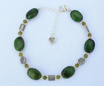 Rainforest Stone Celtic Knot Bracelet