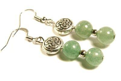Aventurine Celtic Knot Earrings