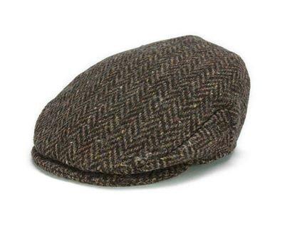 Hanna Hats - Vintage Cap - Brown Herringbone