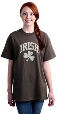 Distressed Irish Shamrock Tee Shirt