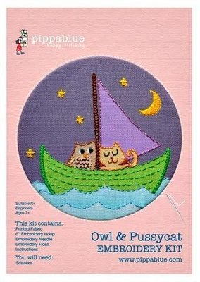 Embroidery Kit - Owl & Pussycat