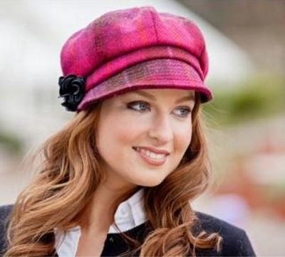 Newsboy Cap - Pink Plaid