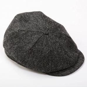 Tweed Cap 8 Piece Charcoal Herringbone